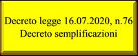 17/07/2020 - Decreto Semplificazioni: Il testo pubblicato sulla Gazzetta ufficiale