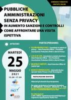13/05/2021 - Un webinar gratuito sulle Pubbliche amministrazioni senza privacy